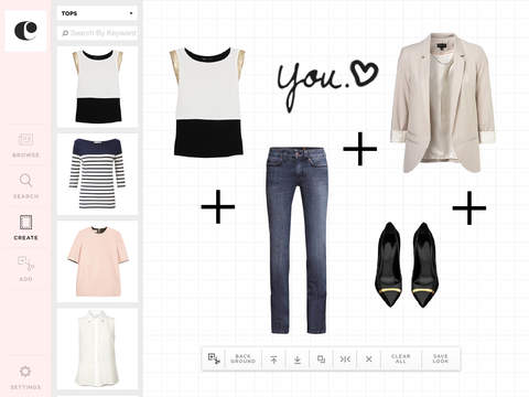 Clothia Closet Stylist - create trendy looks and shop clothes by outfits