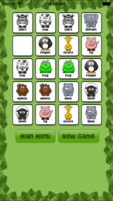 Animal Memory Match Free - Fun for kids!!! iPhone Screenshot 4