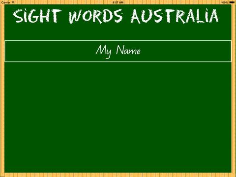 Sight Words Australia School Edition