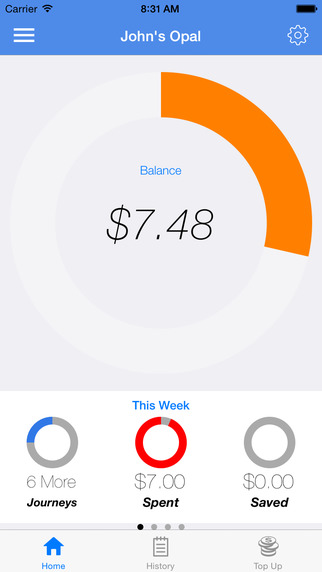 Opal View Lite - App for tracking your Opal balance and spending