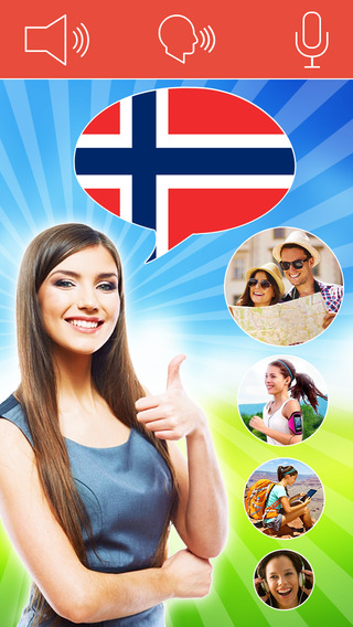 Speak Norwegian FREE - Interactive Conversation Course with Mondly to learn a language with audio ph