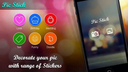 Pic Sticker free - Decorate your image with stickers huge collection of stickers for events like bir
