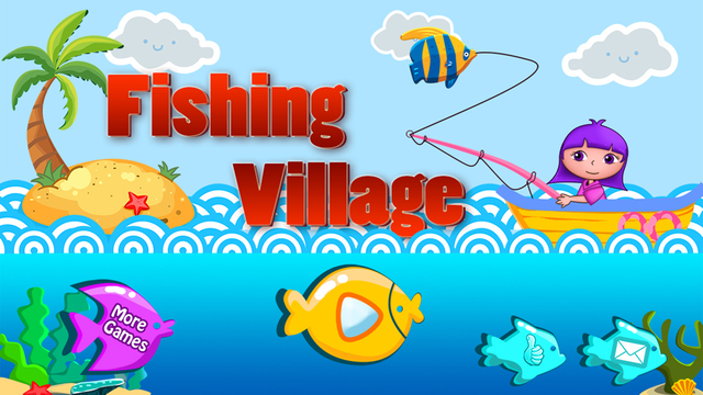 Anna's seaside Fishing Village - free games for childrens
