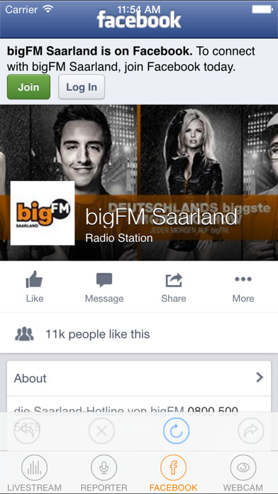 bigFM Saarland iPhone Screenshot 3