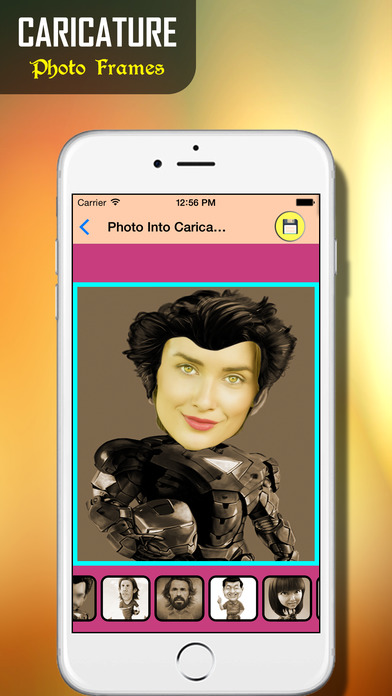 Face Caricature - Cartoon Photo: Insta Cartoon Maker for your Pictures iPhone Screenshot 1