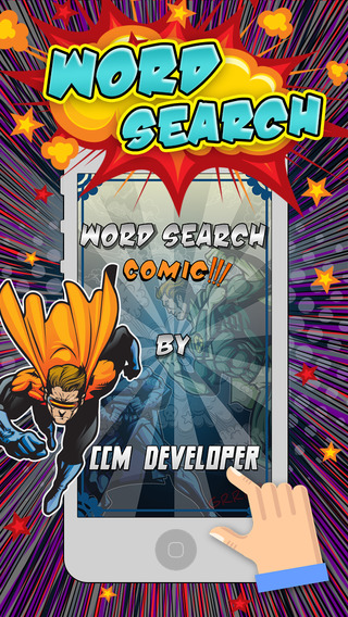 Word Search Comics Heroes Puzzles Super Games