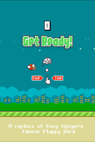 iphone Flappy - A Replica of the Original Bird Game Screenshot 1
