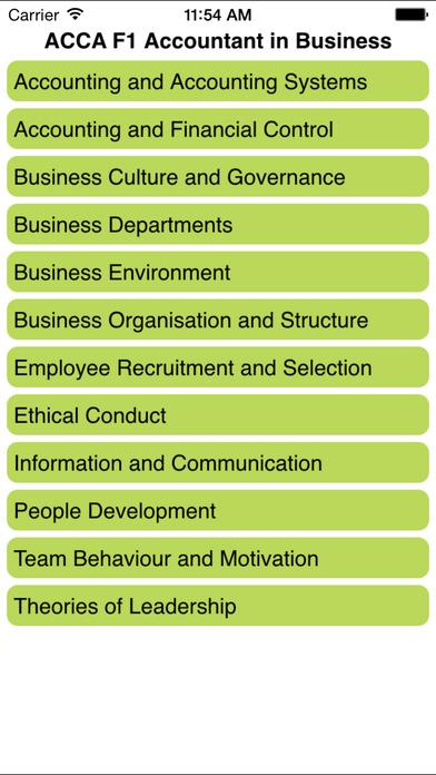 ACCA F1 Accountant in Business iPhone Screenshot 2