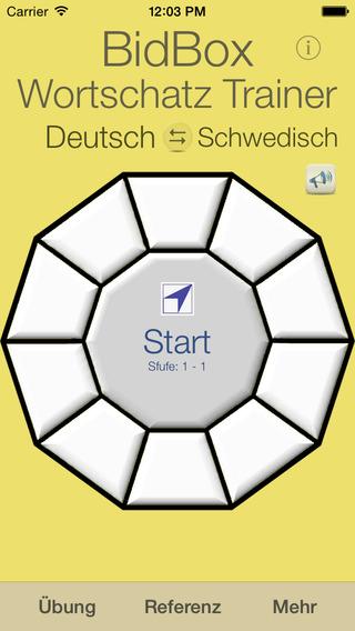 Vocabulary Trainer: German - Swedish iPhone Screenshot 1