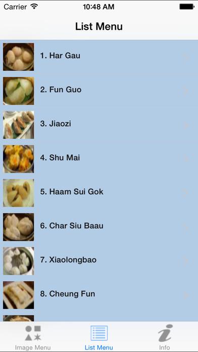 DimSumMenu - Dim Sum Menu Guide iPhone Screenshot 2