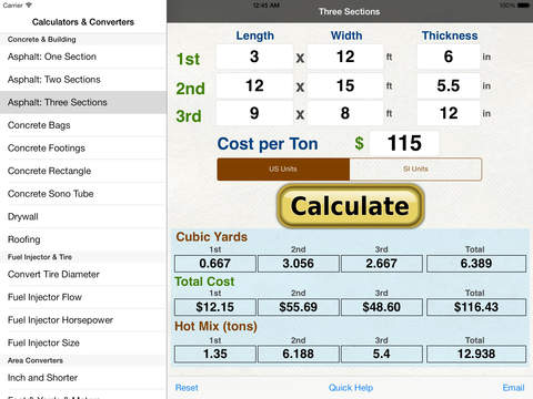 Fuel Injector Calculators iPad Screenshot 2
