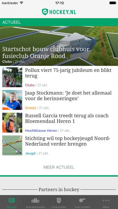 hockey.nl Standenmotor iPhone Screenshot 1