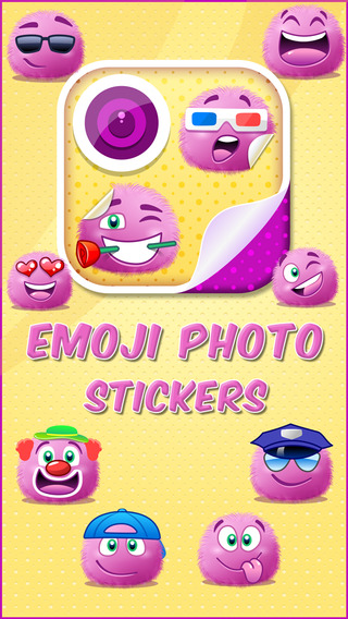 Emoji Camera Photo Stickers - Add Funny Pink Smiley Faces to your Pictures