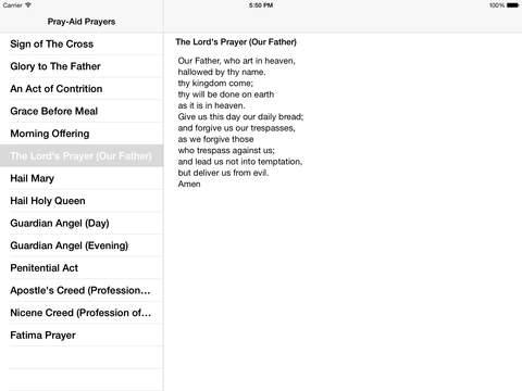 Pray-Aid iPad Screenshot 1