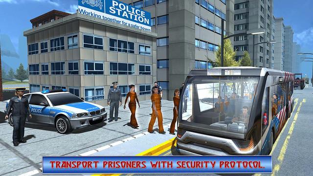 Police Bus Criminal Encounter