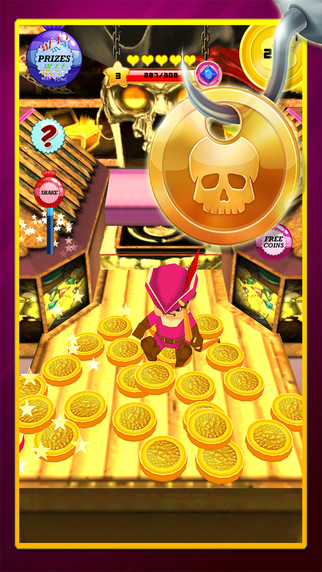 Pirate King Golden Coin Dozer Machine : A real buried treasure in seven seas journey
