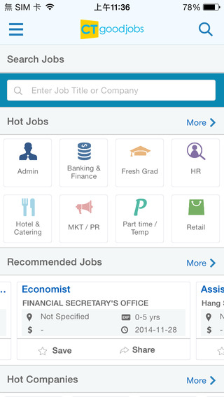 CTgoodjobs for iPhone