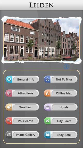 Leiden Offline Map Travel Explorer