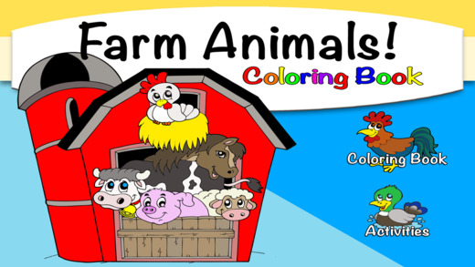 Farm Animals Coloring Book with Activities