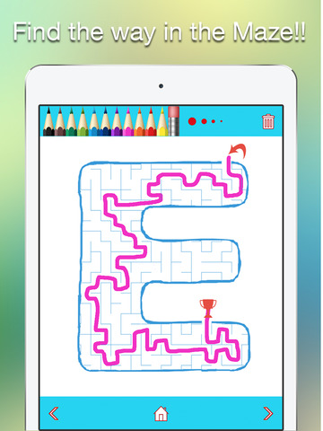 AEIOU Maze Coloring Book - Fun with the Vowels for Kids and Toddlers