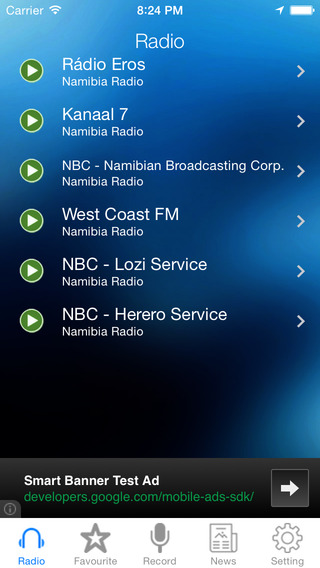 Namibia Radio News Music Recorder