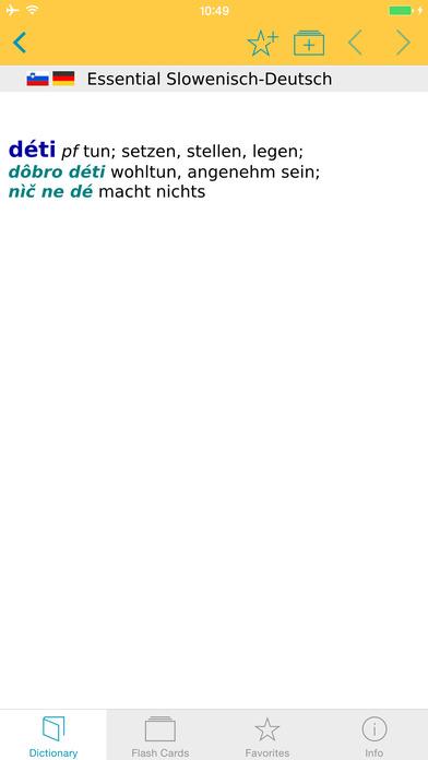 Slovenian <-> German Dictionary Langenscheidt Essential iPhone Screenshot 5