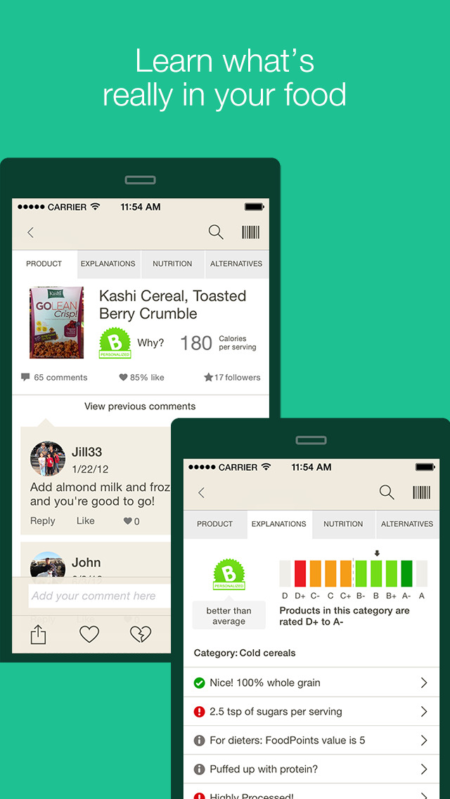 Fooducate - Healthy Weight Loss, Food Scanner & Diet Tracker - Count Calories & their Quality to Lose Weight & Keep it Off