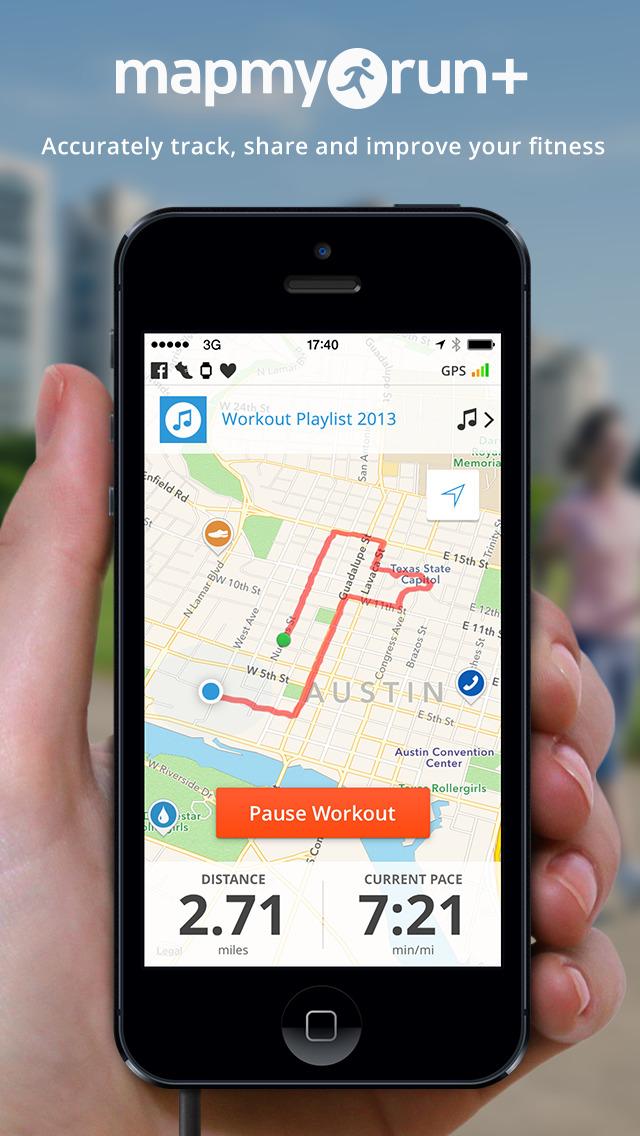 Map My Run+ - GPS Runn... Screenshot