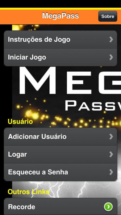 Mega Pass iPhone Screenshot 2