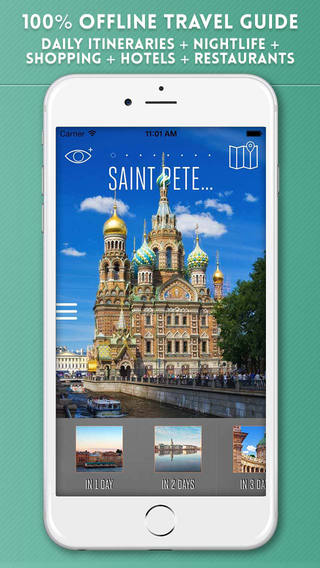 St Petersburg Travel Guide with Offline City Street and Metro Maps