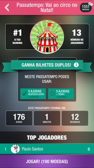 Sei+: Quizes em Português Jogos gratuito para iPhone / iPad screenshot