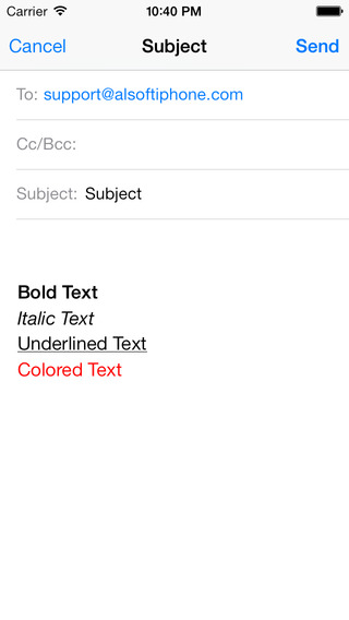 iQuickMail iPhone Screenshot 3