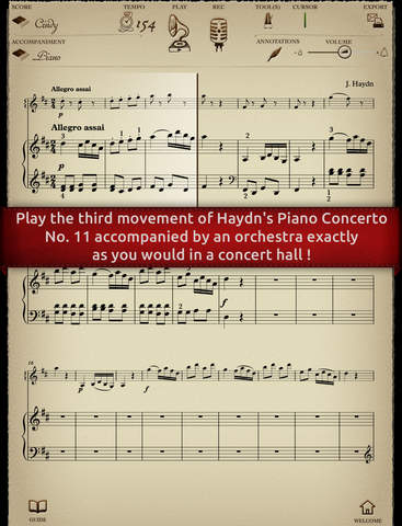 Play Haydn – Piano Concerto No. 11 – 3rd movement Rondo all'Ungarese interactive sheet music