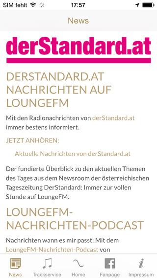 LoungeFM Radio iPhone Screenshot 2