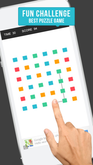 Squares: A colourful dot puzzle where you move match pop connect and link dots.