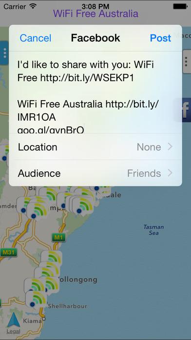 WiFi Free Australia iPhone Screenshot 2