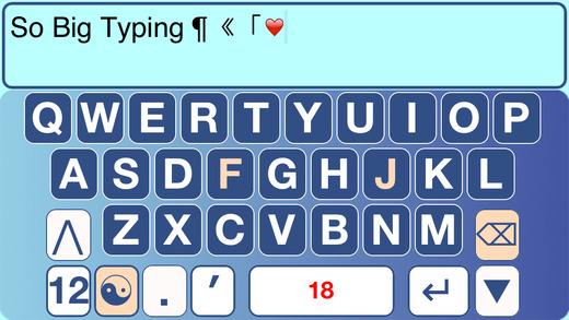 SoBigTyping - XLarge Keyboard