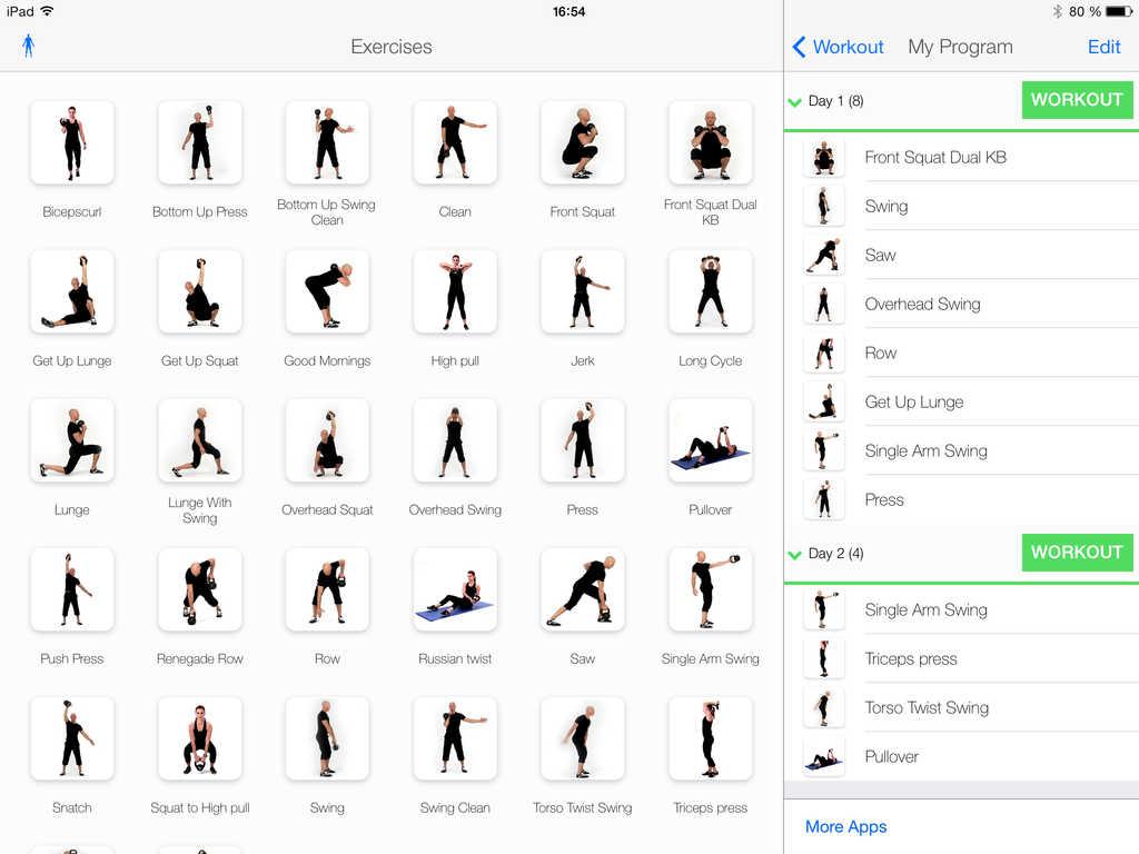 Circuito Kettlebell : App shopper virtual trainer kettlebell healthcare fitness