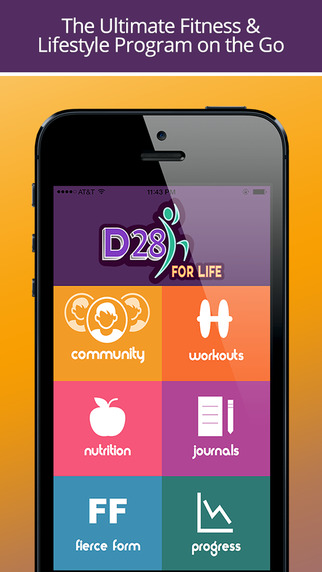 D28 For Life: Daily Workout Trainer and Exercise Tracker Fitness Journal Log to Lose Weight