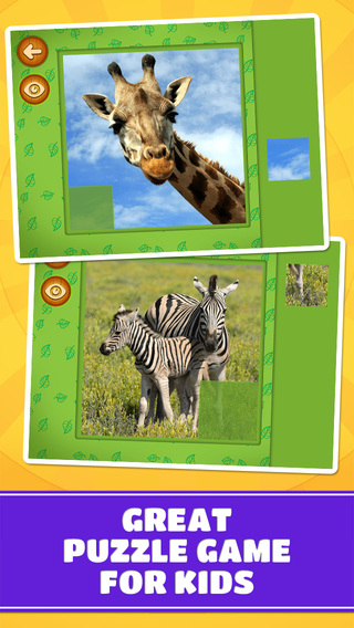 Savanna Desert Animals Puzzles – Logic Game for Toddlers Preschool Kids Little Boys and Girls: Vol.2
