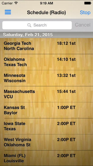Pocket News - College Basketball iPhone Screenshot 1