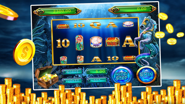 Poseidon God Slot Machine with Lucky Spin Lucky Coins Casino Games