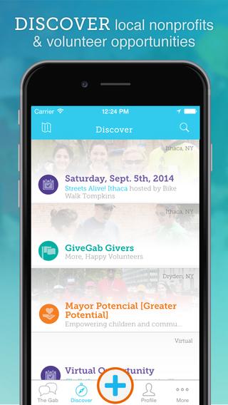 GiveGab — Social Volunteering