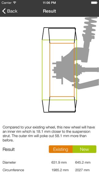 Wheel will fit: Speedometer Error Calculator Rolling Radius The Wheel Fitment