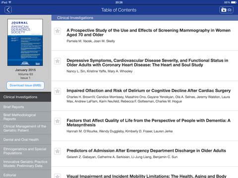 journal of american geriatrics society articles