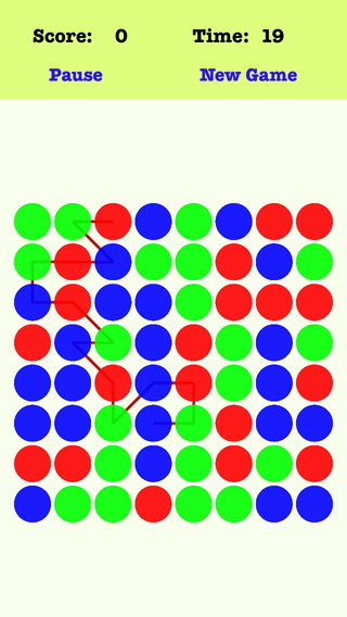 Classic Dots - Link the dots according to the order of the red green blue