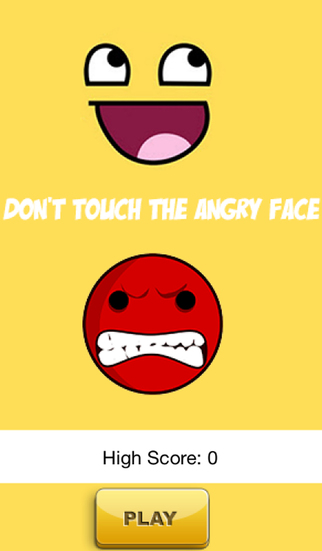 Dont touch the angry Face