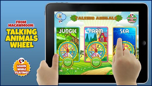 Talking Animals Wheel: Listen and Learn Words for