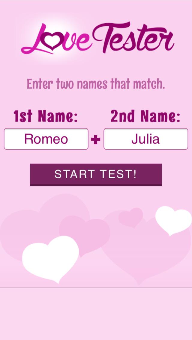 love tester name kostenlos