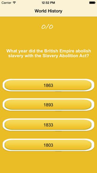 World History Quiz and trivia